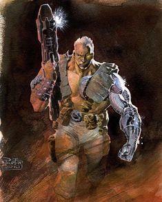 """I'll need guns. Very, very big guns."" @philiptanart #cable #nathansummers #joshbrolin #thegothamvault * * * * * #deadpool #deadpool2…"