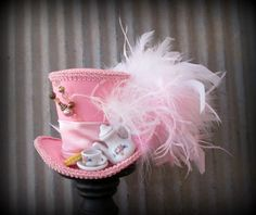 Pink Mini Top Hat Alice in Wonderland Mini Top Hat by ChikiBird