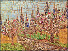'Remake of Van Gogh's, A Provencal Orchard 1888' by C.T.Rasmuss, Lucid Mosaic (2014).