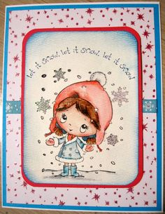 Christmas card using s.w.a.l.k. Coloured with Distress Markers.