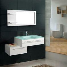 Salle de bain complète meuble 1 vasque Blanche LUCEA - Maison Facile : www.maison-facile.com