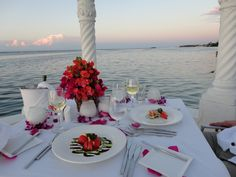 Candlelight dinner on water in Jamaica!