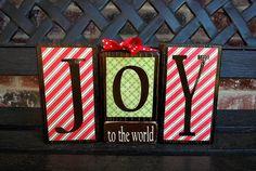 Christmas wood blocks by jjnewton on Etsy, $11.00 #Christmas #thanksgiving #Holiday #quote