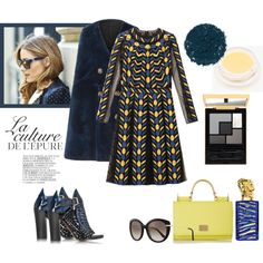 Chic blue by underwonder on Polyvore featuring мода, Valentino, Burberry, Proenza Schouler, Dolce&Gabbana, Salvatore Ferragamo, Illamasqua, Sisley Paris, rms beauty and By Zoé