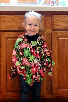 Everything That I Need: Fleece Poncho DIY
