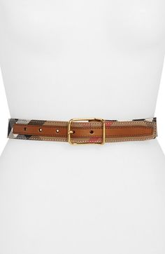 Burberry House Check Belt available at #Nordstrom
