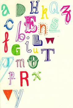 Sketchbook typography