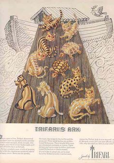 Trifari jewelry ad ''Trifari's Ark''