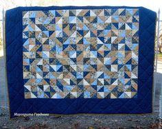"""Текстиль, ковры ручной работы. Большое лоскутное одеяло """" Ноябрь"""". Пэчворк…"""