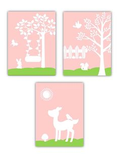Art for kids Backyard Theme Nursery Art for kids by LittlePergola, $45.00
