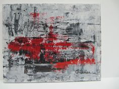 Classy gray and red par Christine Mercier sur Etsy