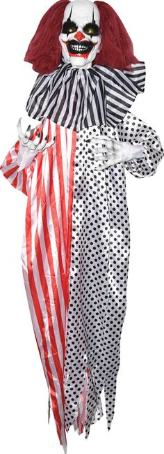 Natty SHAKING CLOWN 5 FT. Latest Range of Clown Roof Hangings for Halloween at CostumePub. Clown Suit, Clown Mask, Halloween Costumes For Kids, Adult Costumes, Evil Clown Costume, Animated Halloween Decorations, Haunted Circus, Clown Party, Clown Shoes