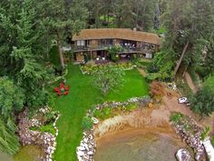 Home for Sale - 9623 SW Whitepoint RD, Vernon, BC V1H 1K8 - MLS® ID 10087977.  private lake-shore with a beautiful red sandy beach, which offers pristine waters on the amazing Okanagan Lake. A must see as this 3000 square foot home has a natural park like setting.