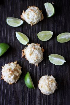 Coconut Lime Macaroons by mindoverbatter #Macaroons #Coconut #Lime