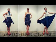 Falda drapeada elegante sin coser Elegant skirt without sewing - YouTube