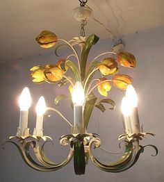 60´s Mid Century Tulip Flower Power Ceiling Lamp
