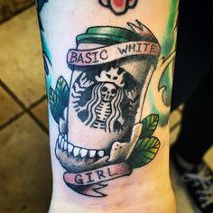 3a7d29eb7 #tattoo #starbucks #starbuckstattoo #basicwhitegirl #coffeetattoo  #dentontattoocompany #artoftheday #ink