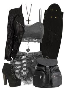 """#408"" by neverland-is-just-a-dream-away ❤ liked on Polyvore featuring Marc Jacobs, H&M and Breckelle's"