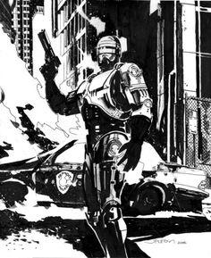 michaelallanleonard: Robocop by John Paul Leon michaelallanleonard:  Robocop by John Paul Leon