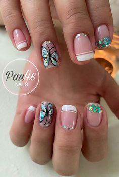 French Manicure Nail Designs, Semi Permanente, Pink Acrylic Nails, Mani Pedi, Autocad, Hair Beauty, Make Up, Nail Art, Nails Inspiration