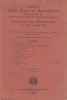 Vintage Booklet Pruning Peach Trees General Care Missouri Board of Horticulture