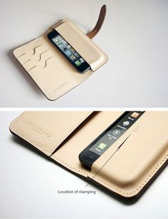 Apple i phone 11 pro max X XS MAX XR / Samsung Galaxy Plus Note 10 leather Phone case (Togo leather) Leather Diy Crafts, Leather Projects, Leather Craft, Leather Wallet Pattern, Leather Clutch, Calf Leather, Leather Phone Case, Leather Design, Leather Accessories