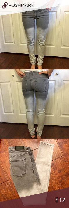 Faded Jeans ☀️ Jeans fade from dark gray to light gray! Excellent fit!!! Great condition! H&M Jeans Skinny