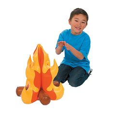Inflatable Campfire - Oriental Trading