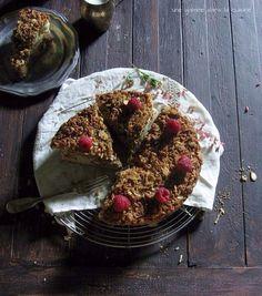 Raspberry Almond Coconut Crumble Cake