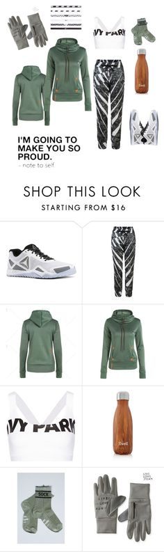 """""""Runaway"""" by looking-for-a-place-to-happen on Polyvore featuring Reebok, Ivy Park, S'well, Mads Nørgaard, Aéropostale, NIKE, fitness, workout, running and motivation"""