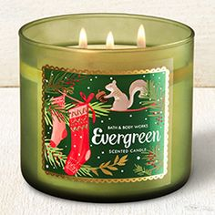 Evergreen 3-Wick Candle - Home Fragrance 1037181 - Bath & Body Works