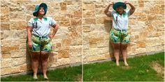 Плюс Размер Мода Блог Лето Основы Плюс Размер Outfit Идеи Цветочные шорты
