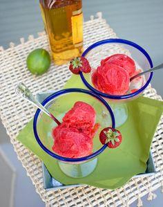 Strawberry Margarita Sorbet!