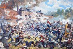l'attaque d'Hougoumont - Waterloo 1815 (Chums)