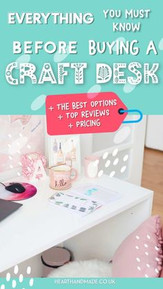 If you're in need of a craft desk or sewing table, I've written a HUGE guide + the best solutions for your dream craft room New Things To Learn, Cool Things To Buy, Diy Craft Projects, Projects To Try, Crafts To Sell, Diy Crafts, Free Facebook Likes, Small Craft Rooms, Craft Desk