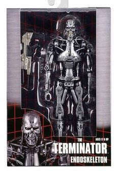 NECA TERMINATOR - 7 T800 ENDOSKELETON ACTION FIGURE IN WINDOW BOX