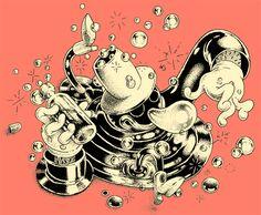 TINTAS - INKS by Gastón Pacheco, via Behance