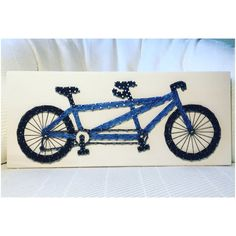 What a sweet tandem bicycle for a person who loves the outdoors! This would be a great personalized gift for a birthday or anniversary!  Size is approximately 7 by 17. You choose the wood stain (dark brown, light brown, gray, white, or aqua) and string colors. A sawtooth hanger is added to every board. Shipping overages will be refunded.  Single bicycle listing- https://www.etsy.com/listing/261790498/custom-bicycle-string-art-sign-bike-art?ref=shop  You can find ...