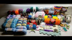 HUGE 55 Skeins Yarn and More GIVEAWAY SEE VIDEO FOR DETAILS HOW TO ENTER - YouTube
