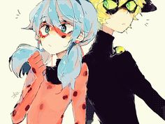 """sakiroll: Ladynoir """" frick, they're so cute– """""""
