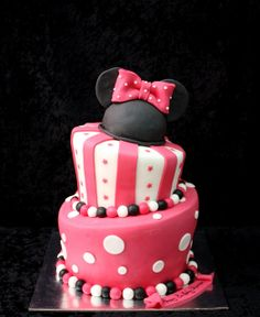 minnie mouse topsy turvy cake by The House of Cakes Dubai, via Flickr