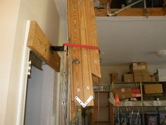 I strapped the folded ladder out of the way during the repair.