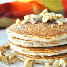 Triple Grain Pancakes- The Best!  Except do 1 cup oatmeal, 1 cup wheat flour, 1 cup regular flour.  Delicious!
