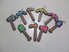 Unofficial Minecraft Inspired Tool Keychain Zipper Pull Lanyard // 10 PIECE YOU CHOOSE / Minecraft Birthday Party Favor // Stocking Stuffer