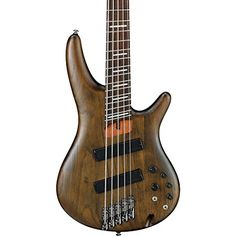 Ibanez SRFF805 Fanned Fret 5-String Electric Bass Guitar Flat Walnut Rosewood * Check this awesome product by going to the link at the image.