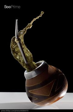 Yerba Mate full of energy - stock photo