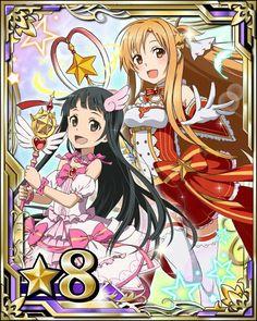 Sword art online Asuna & Yui j'adore les voir ensemble