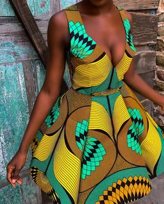 Latest stylish African Print summer outfits, summer dresses, head-tie Short Hair Styles for Spring All the stylish Spring Ankara Print Outfits and latest short hairstyles, bridesmaids dresses and wedding guest outfit ideas African Shirts, African Print Dresses, African Fashion Dresses, Ankara Fashion, Short Ankara Dresses, African Inspired Fashion, African Print Fashion, African Attire, African Wear