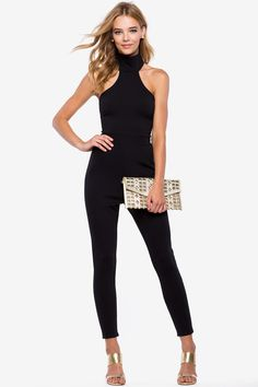 Комбинезон Размеры: L Цвет: черный Цена: 2373 руб.  #одежда #женщинам #комбинезоны #коопт