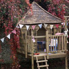 Detalles de casa de madera con tobogan y arenero para - Construye tu propia casa ...